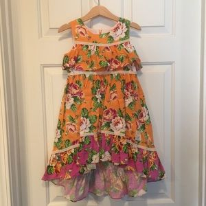Olive & Mae Orange w/Roses Dress
